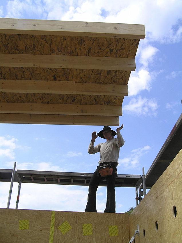 Das erste Dachelement
