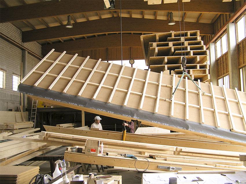Vorproduziertes Dachelement
