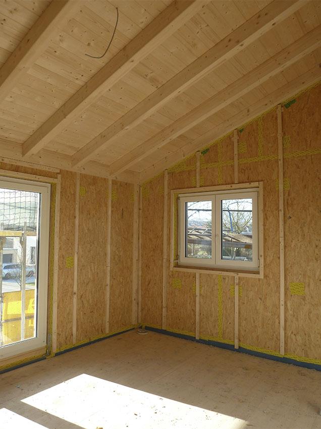 Holzbausystem Innenansicht